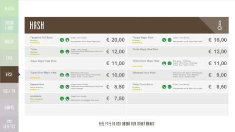 Boerejongens coffeeshop CENTRE HASH 2018 september