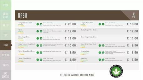 Boerejongens Coffeeshops CENTRE 2018 JULY HASH