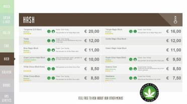 Boerejongens Coffeeshops CENTRE HASH 2018 JUNE