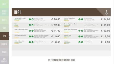 Boerejongens Coffeeshops CENTRE HASH 2018 OCTOBER