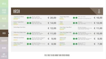 Boerejongens Coffeeshops CENTRE HASH 2018 SEPTEMBER