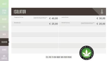Boerejongens Coffeeshops CENTRE ISO 2018 APRIL