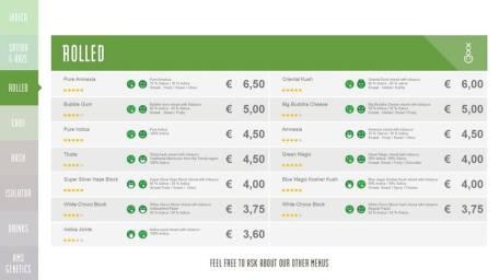 Boerejongens Coffeeshops CENTRE ROLLED 2018 OCTOBER