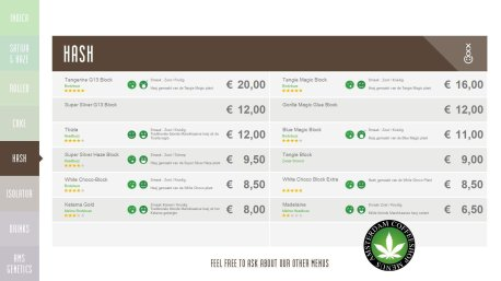 Boerejongens Coffeeshops HASH 2018 april