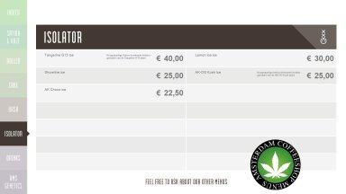Boerejongens Coffeeshops ISOLATOR 2018 april