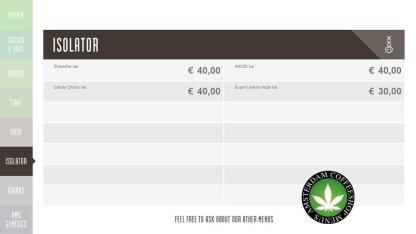 Boerejongens Coffeeshops isolator WEST 2018 march