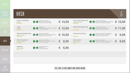 Boerejongens Coffeeshops SLOTERDIJK hash 2018 OCTOBER