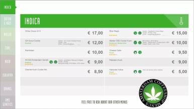 Boerejongens Coffeeshops WEST 2018 JULY INDICA