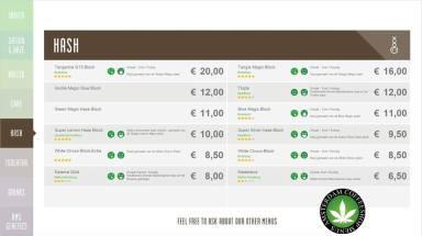 Boerejongens Coffeeshops WEST hash 2018 august