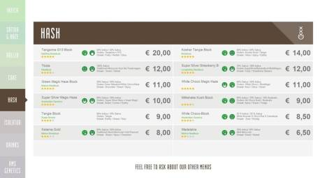 Boerejongens Coffeeshops WEST hash 2018 november