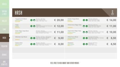 Boerejongens Coffeeshops WEST hash 2018 october