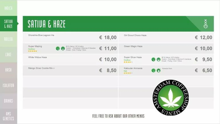 Boerejongens Coffeeshops WEST sativa haze 2018 august
