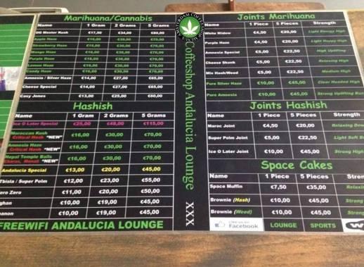 Coffeeshop Andalucia Lounge 3 Floors 2018 september