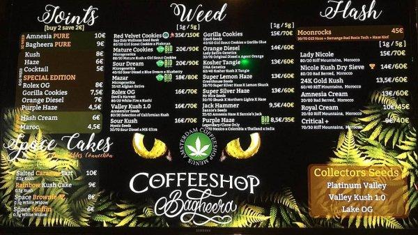 Amsterdam Coffeeshop Menu 2018 – Smoker City Trip