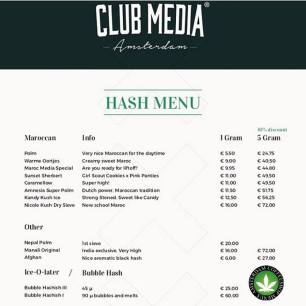 Coffeeshop CLUB MEDIA HASH 2018 march