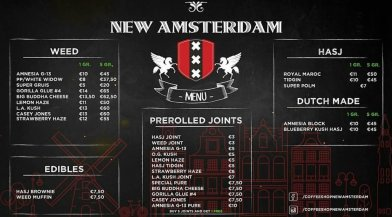 COFFEESHOP NEW AMSTERDAM 2018 FEBRUARY