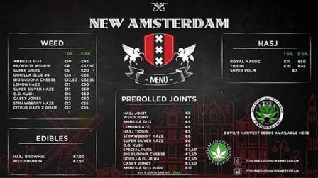 Coffeeshop New Amsterdam 2018 october