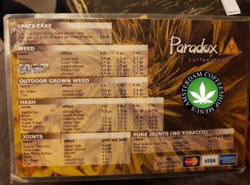 Coffeeshop Paradox 2018 noember