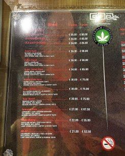 Goa Coffeeshop WEED 2018 FEBRUARY