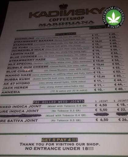 Kadinsky Coffeeshop Langebrugsteeg 2018 OCTOBER