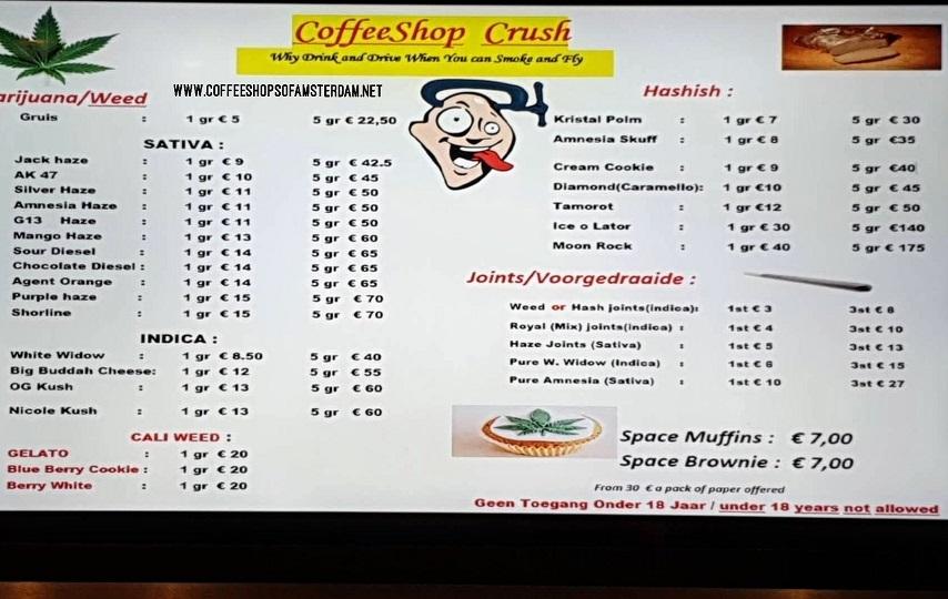 Coffeeshop CRUSH 2019 august