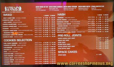 coffeeshop Strain Hunter's 2021 july